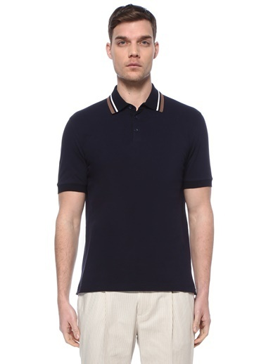Brunello Cucinelli Brunello Cucinelli  Polo Yaka T-shirt 101614598 Lacivert